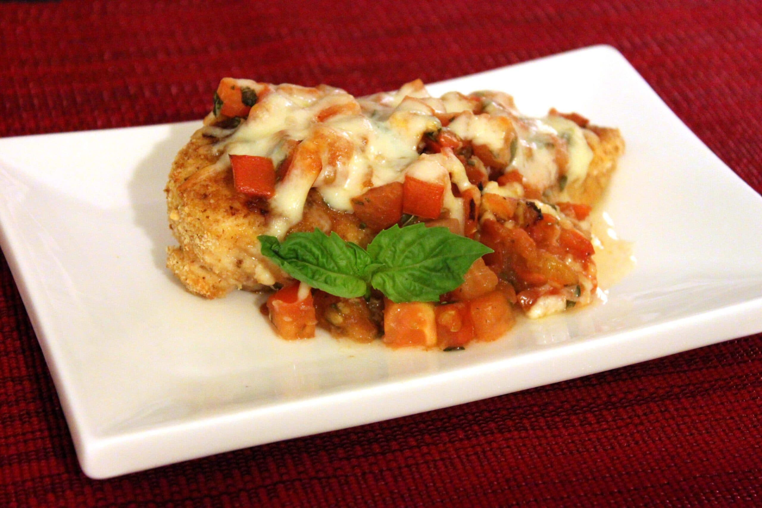 Bruschetta chicken by jesse lane wellness you can use prepared breadcrumbs for this recipe or you can make your own by toasting 2 small slices of bread and then processing them into crumbs in a food forumfinder Gallery