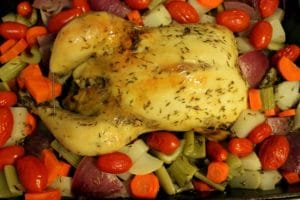 Roasted Chicken and Veggies by @JesseLWellness #chicken