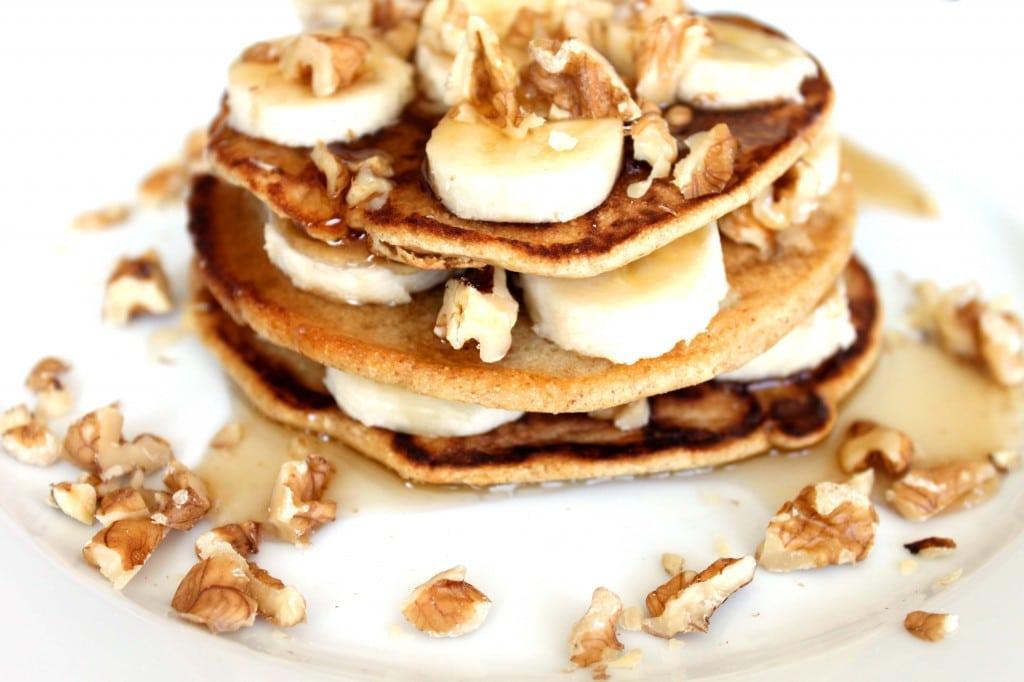 Stack'em High Spelt Pancakes by @JesseLWellness #pancakes