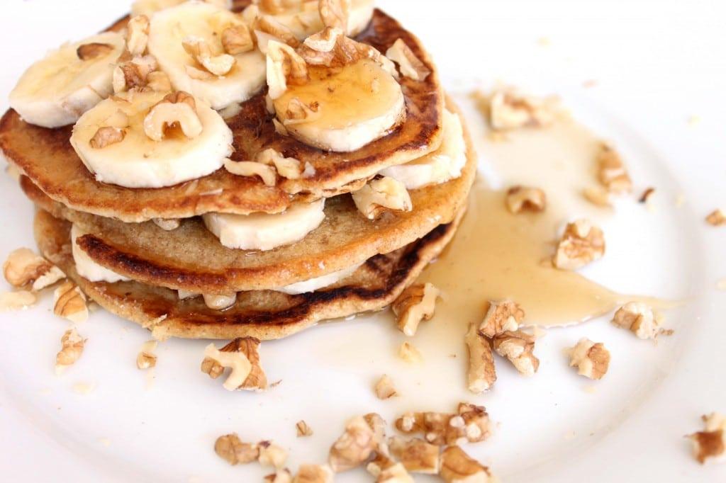 Stack'em High Spelt Pancakes by @JesseLWellness #vegetarian