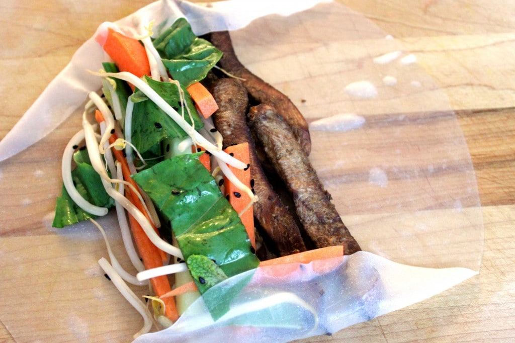 Thai Rice Wraps with Peanut Sauce by @JesseLWellness #glutenfree