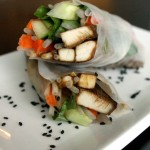 Thai Rice Wraps with Peanut Sauce by @JesseLWellness #ricewraps