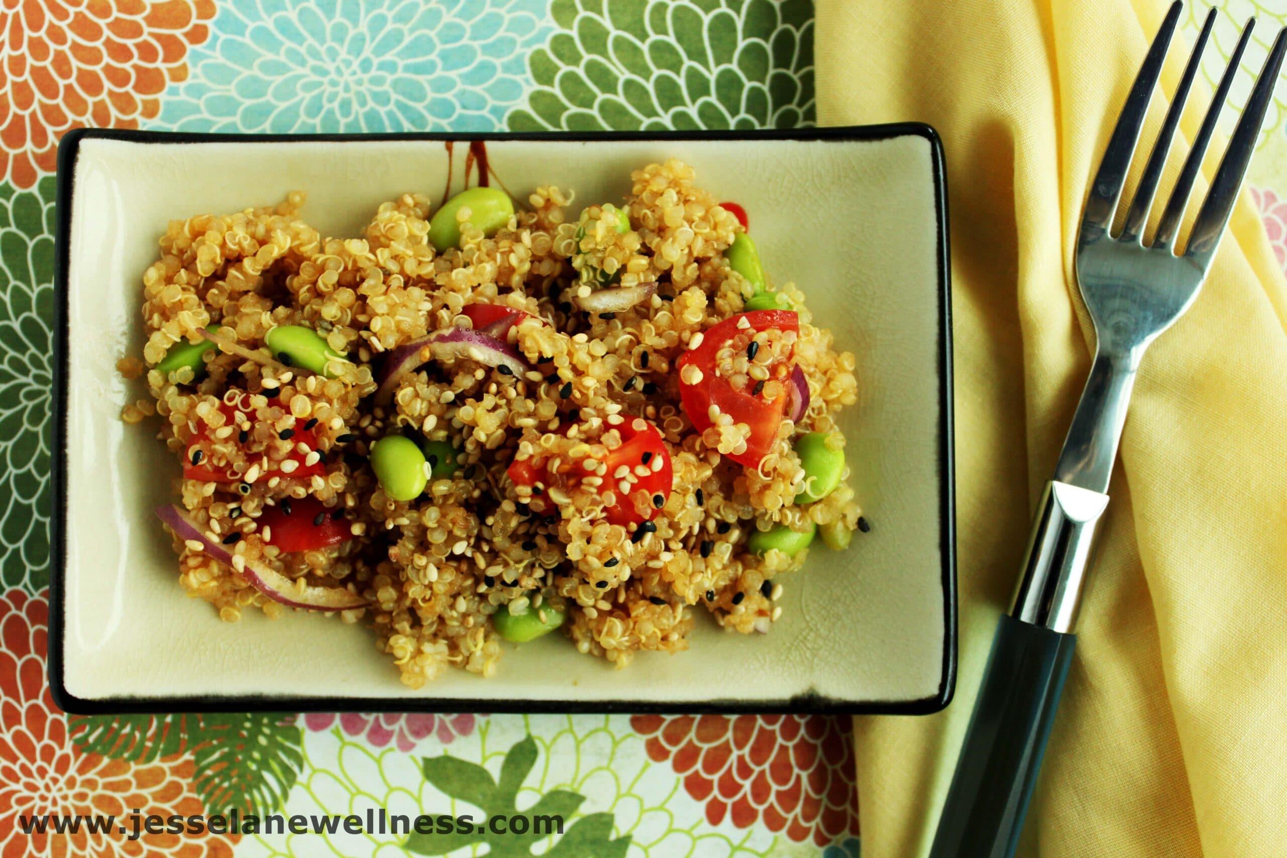 Asian Quinoa Salad (Vegan and Gluten Free Recipe by