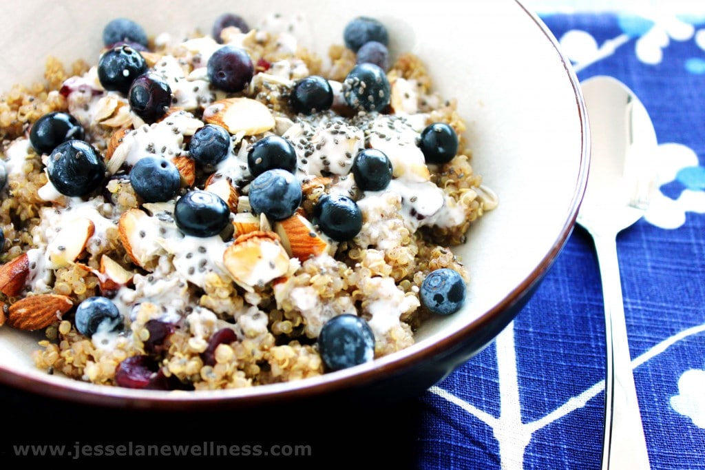 Breakfast Quinoa (Vegan and Gluten Free) by Jesse Lane Wellness