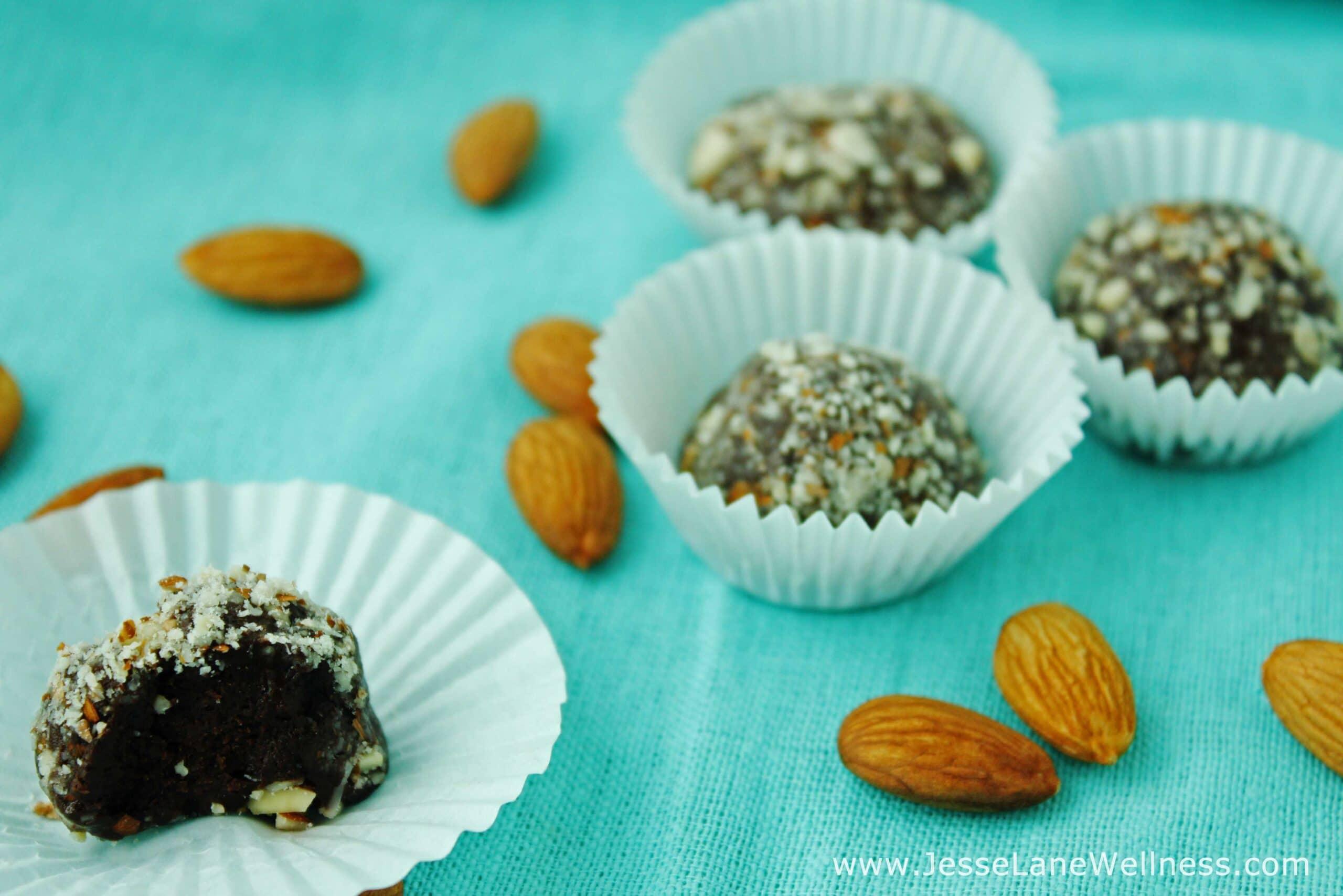 Vanilla Almond Protein Truffles by @JesseLWellness