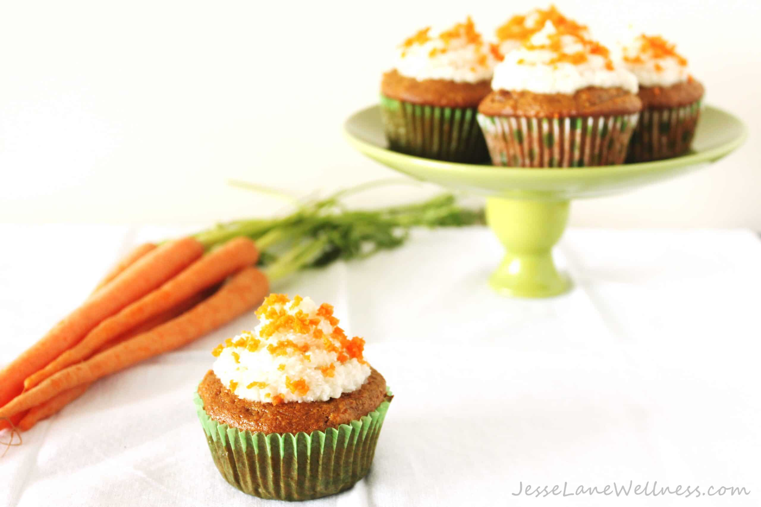 carrot cake cupcakes with coconut