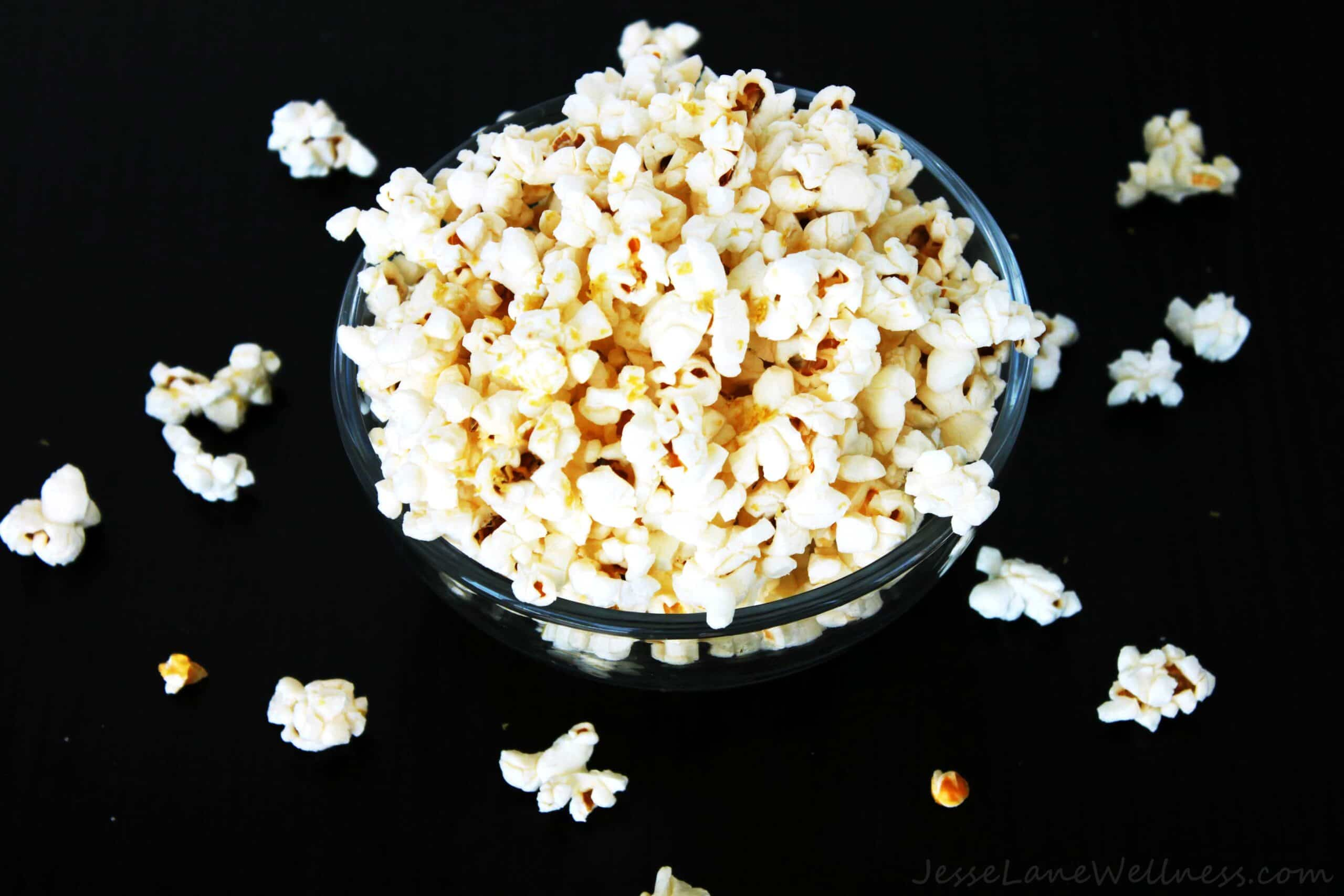 Cheesy Popcorn by @JesseLWellness #cheesy #popcorn