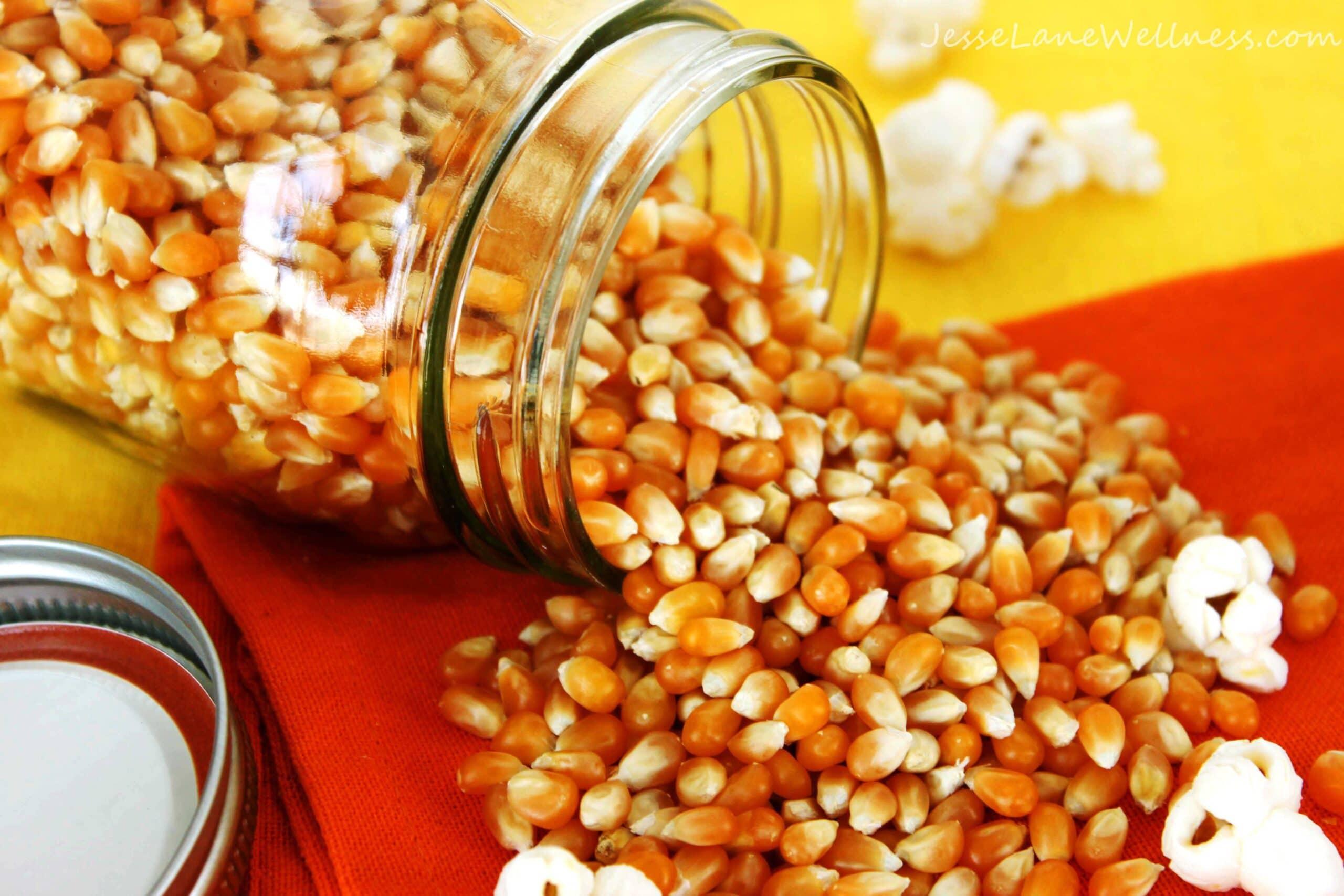 Cheesy Popcorn by @JesseLWellness #corn #GM