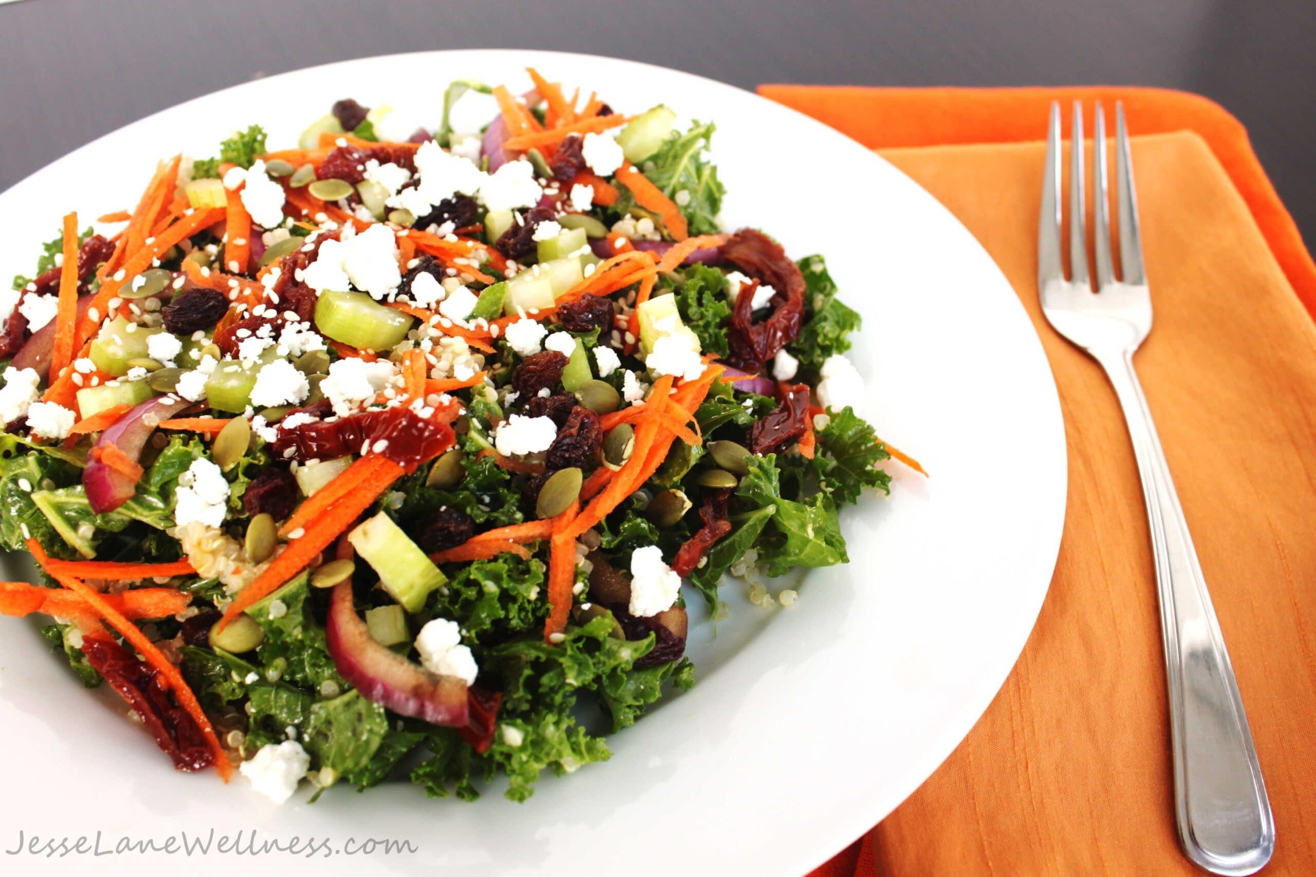 Curry Kale Quinoa Salad by @JesseLWellness #curry