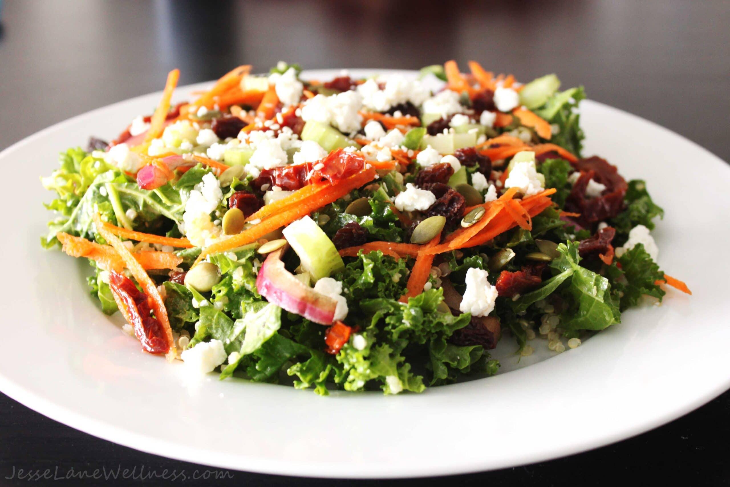 Curry Kale Quinoa Salad by @JesseLWellness #salad