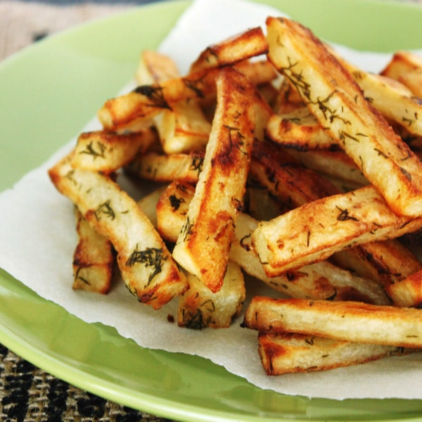Dill Pickle Fries (gluten free, vegan) by Jesse Lane Wellness