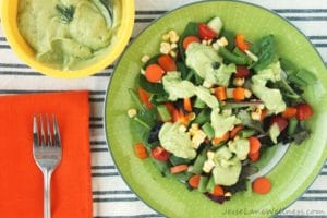 Farmer's Market Ranch Salad by @JesseLWellness #salad