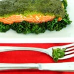 Kale Oregano Pesto Salmon by Jesse Lane Wellness