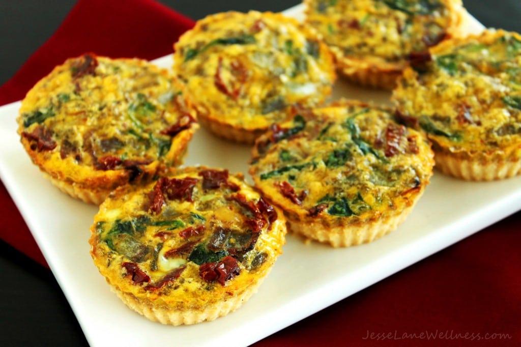Canada Day Recipe Roundup Mini Mediterranean Gluten Free Quiche @JesseLWellness #glutenfree