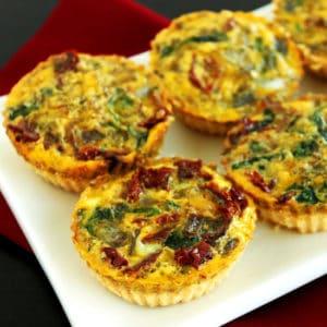 Mini Mediterranean Gluten Free Quiche by Jesse Lane Wellness