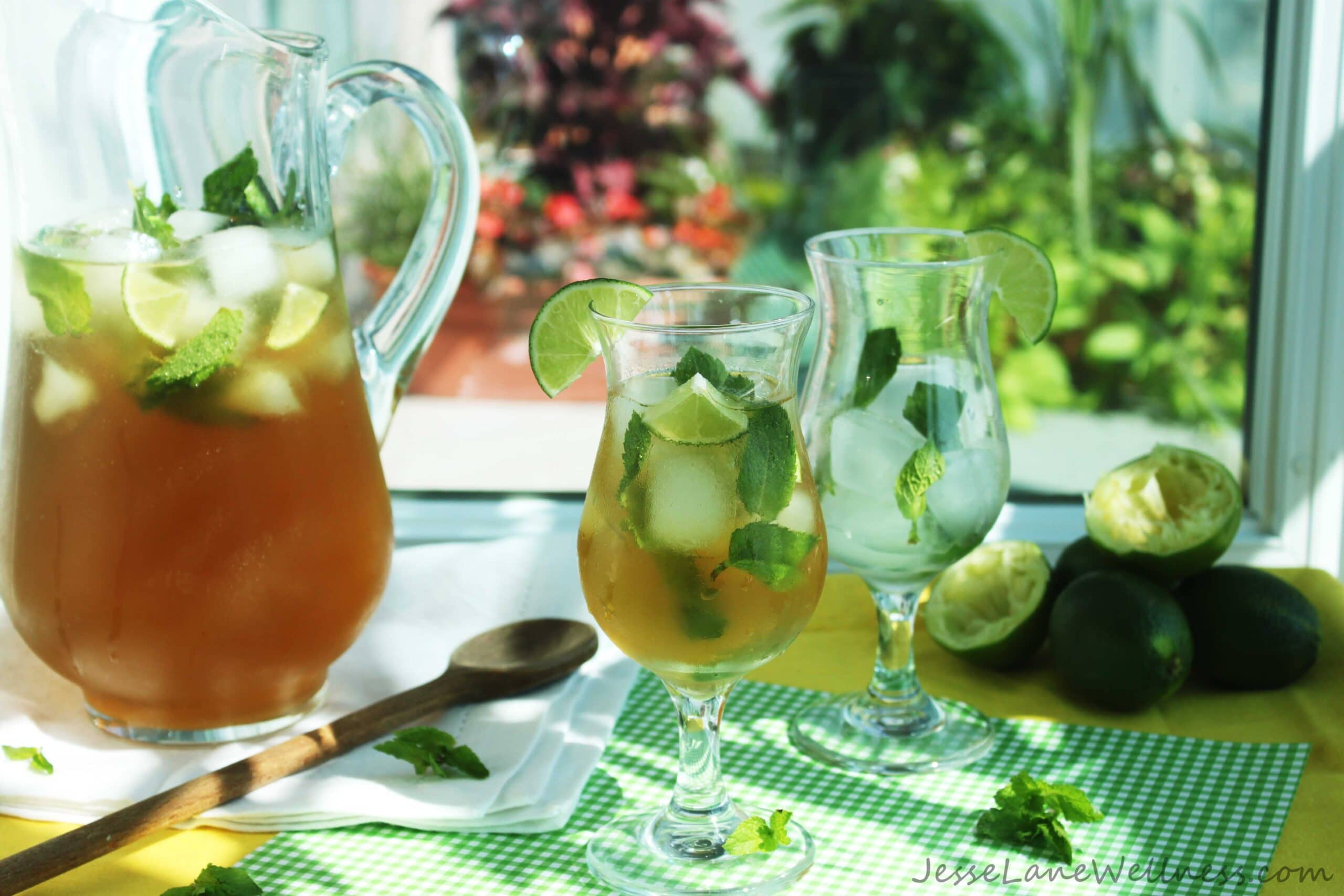 Mojito Iced Tea by @JesseLWellness #icetea