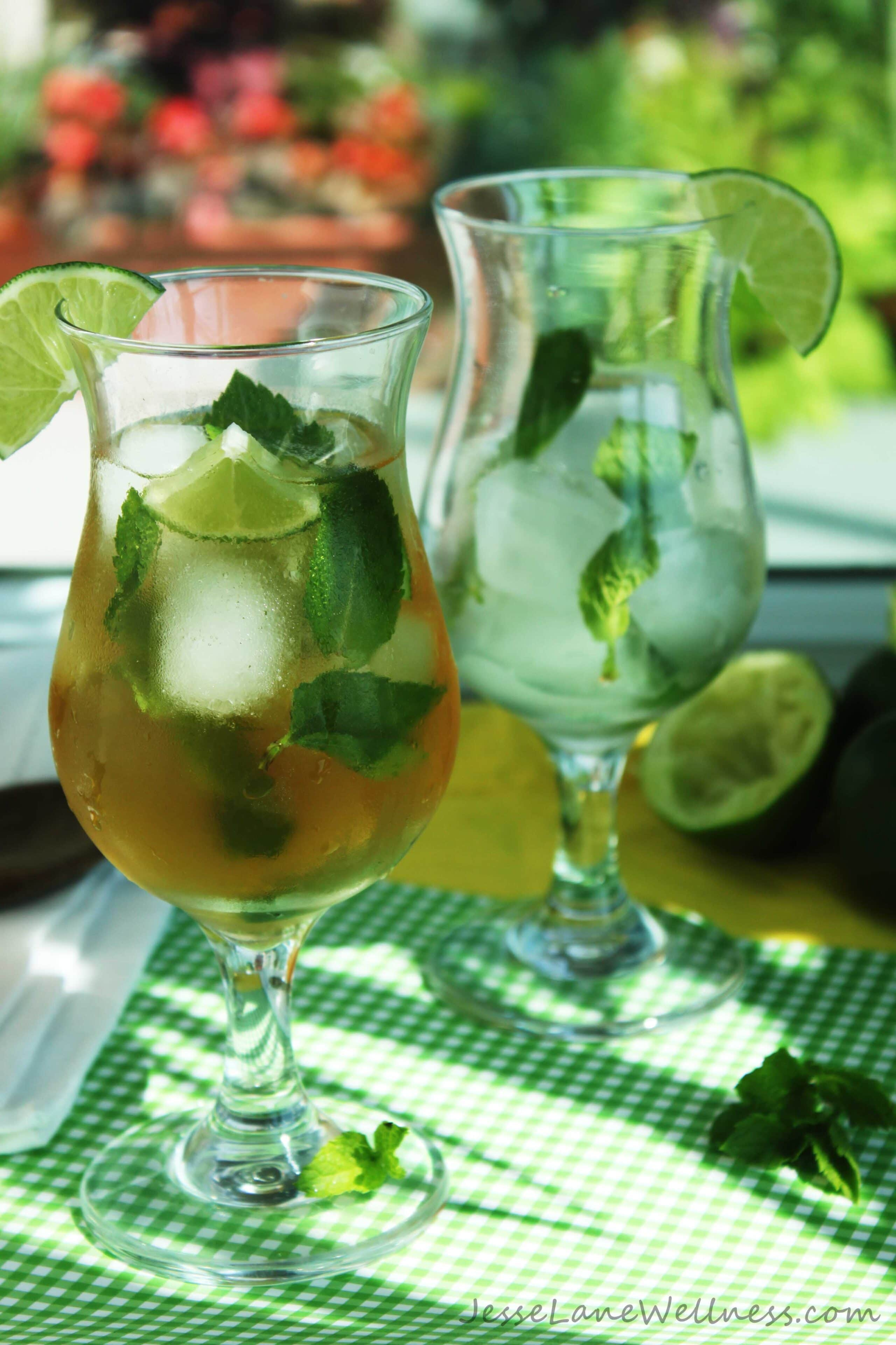 Mojito Iced Tea by @JesseLWellness #mint