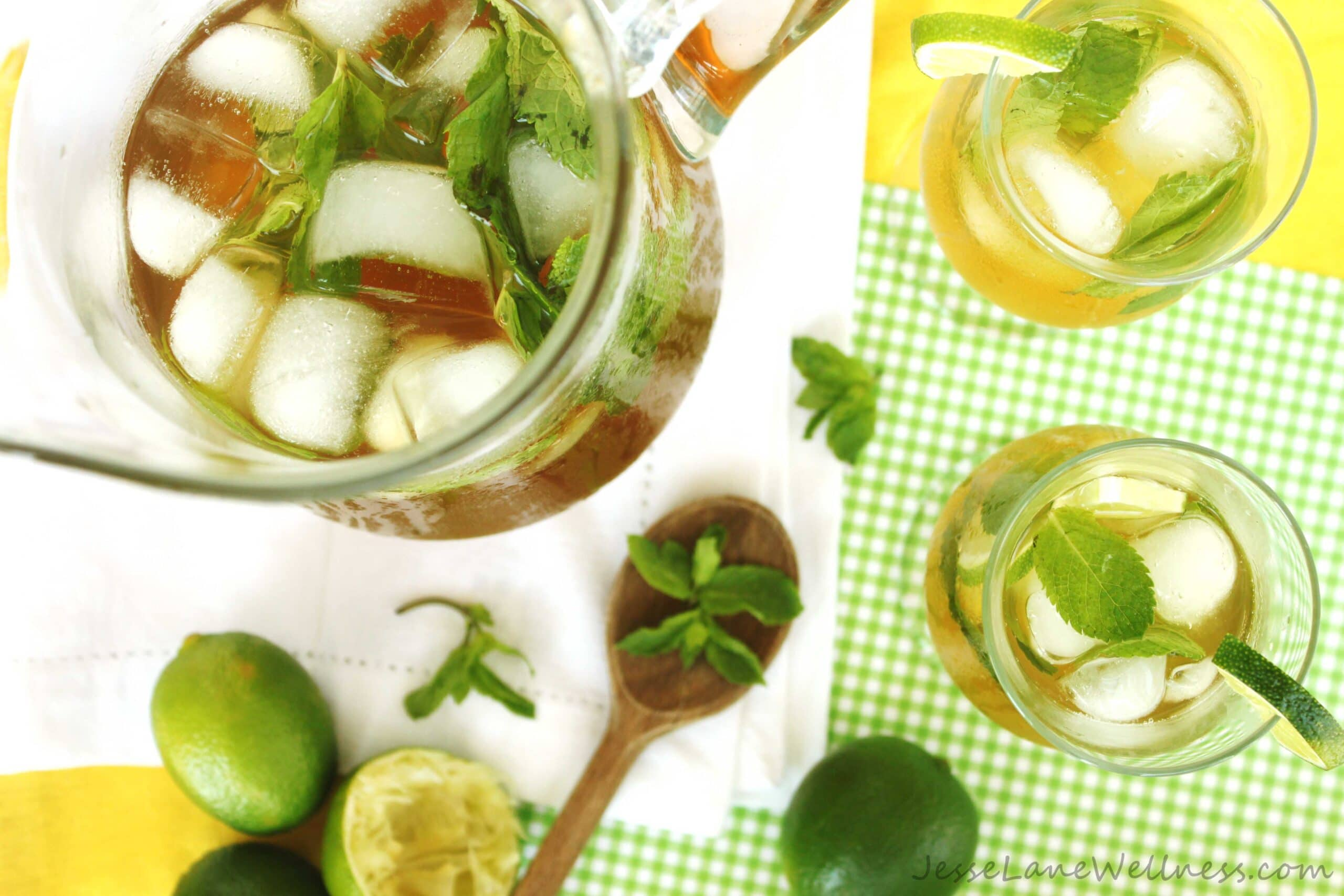 Mojito Iced Tea by @JesseLWellness #sugarfree