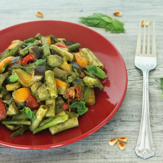 Pesto Primavera with Roasted Veggies by Jesse Lane Wellness