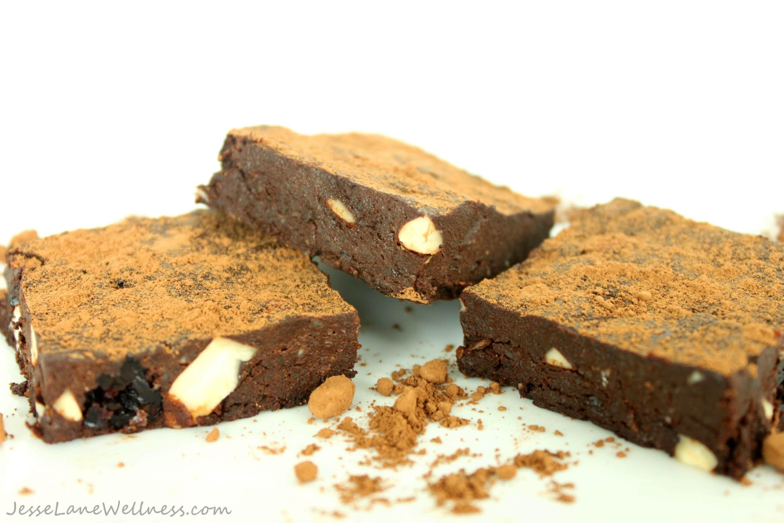 Raw Black Forest Brownies by @JesseLWellness #GlutenFree