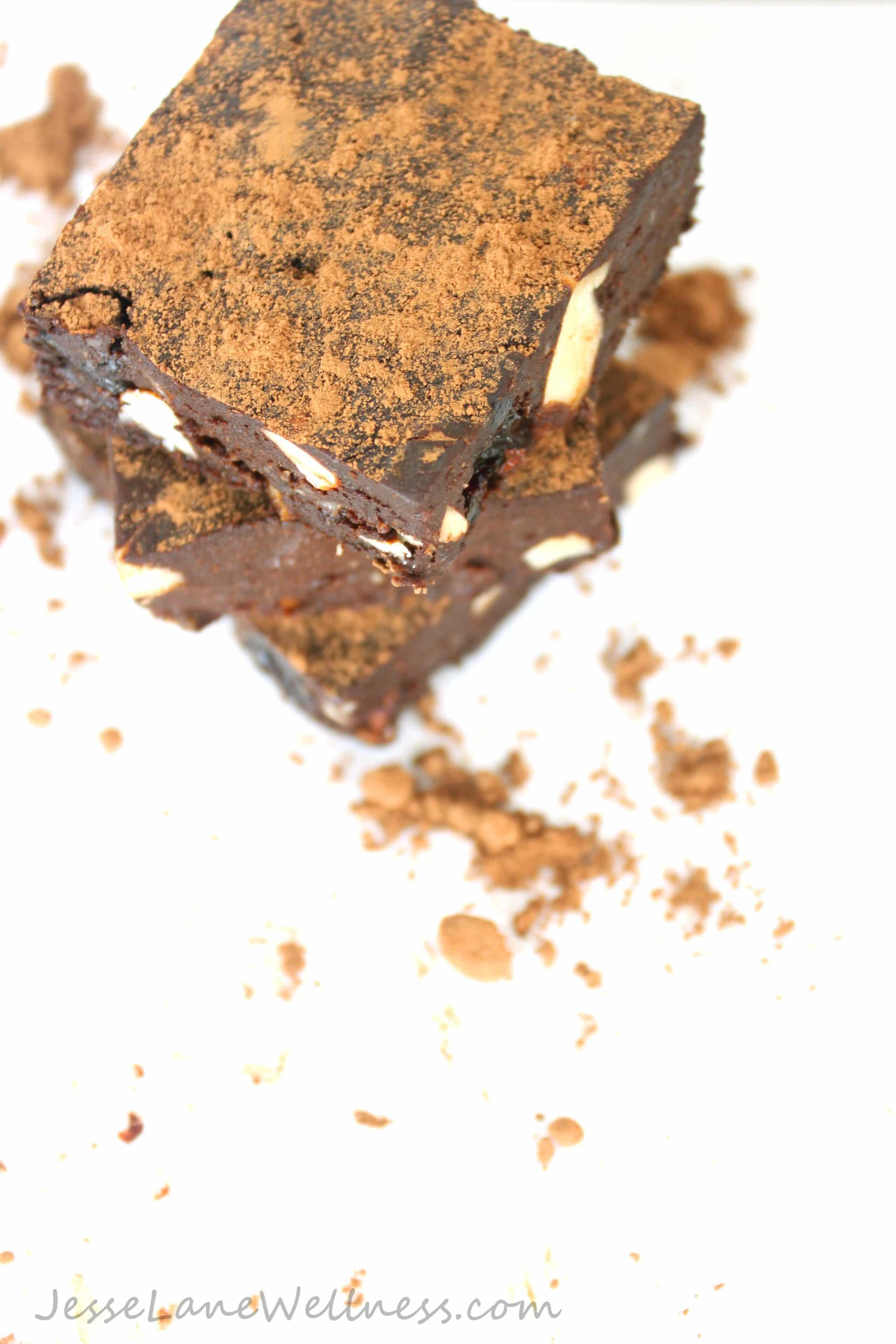 Raw Black Forest Brownies by @JesseLWellness #raw