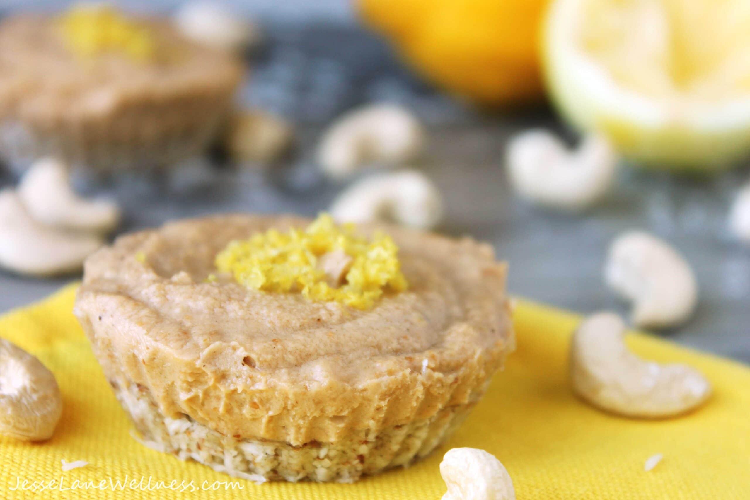 Raw Lemon Cheesecake Recipe By Jesse Lane Wellness