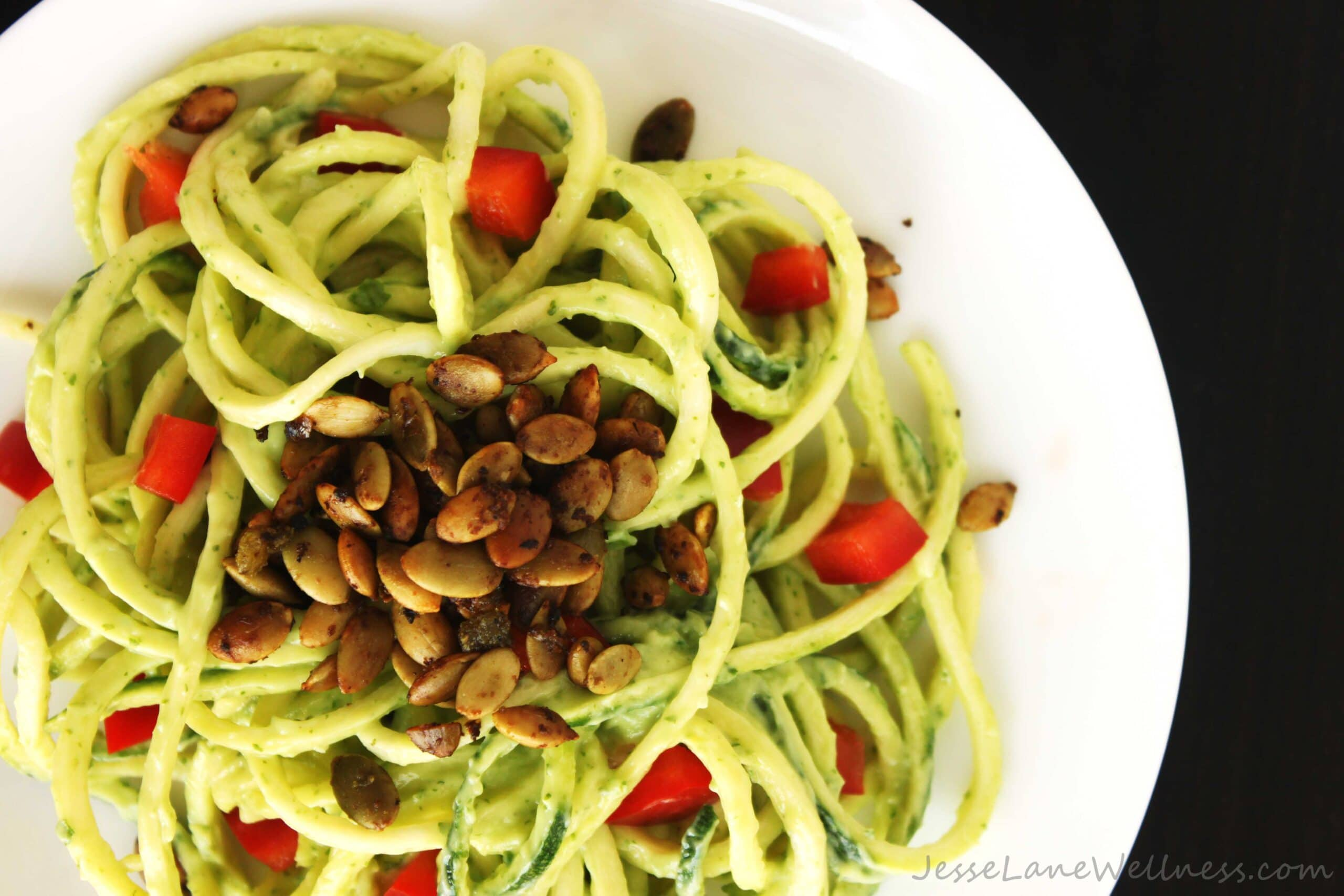Summer Cilantro Zucchini Pasta by @JesseLWellness #paleo