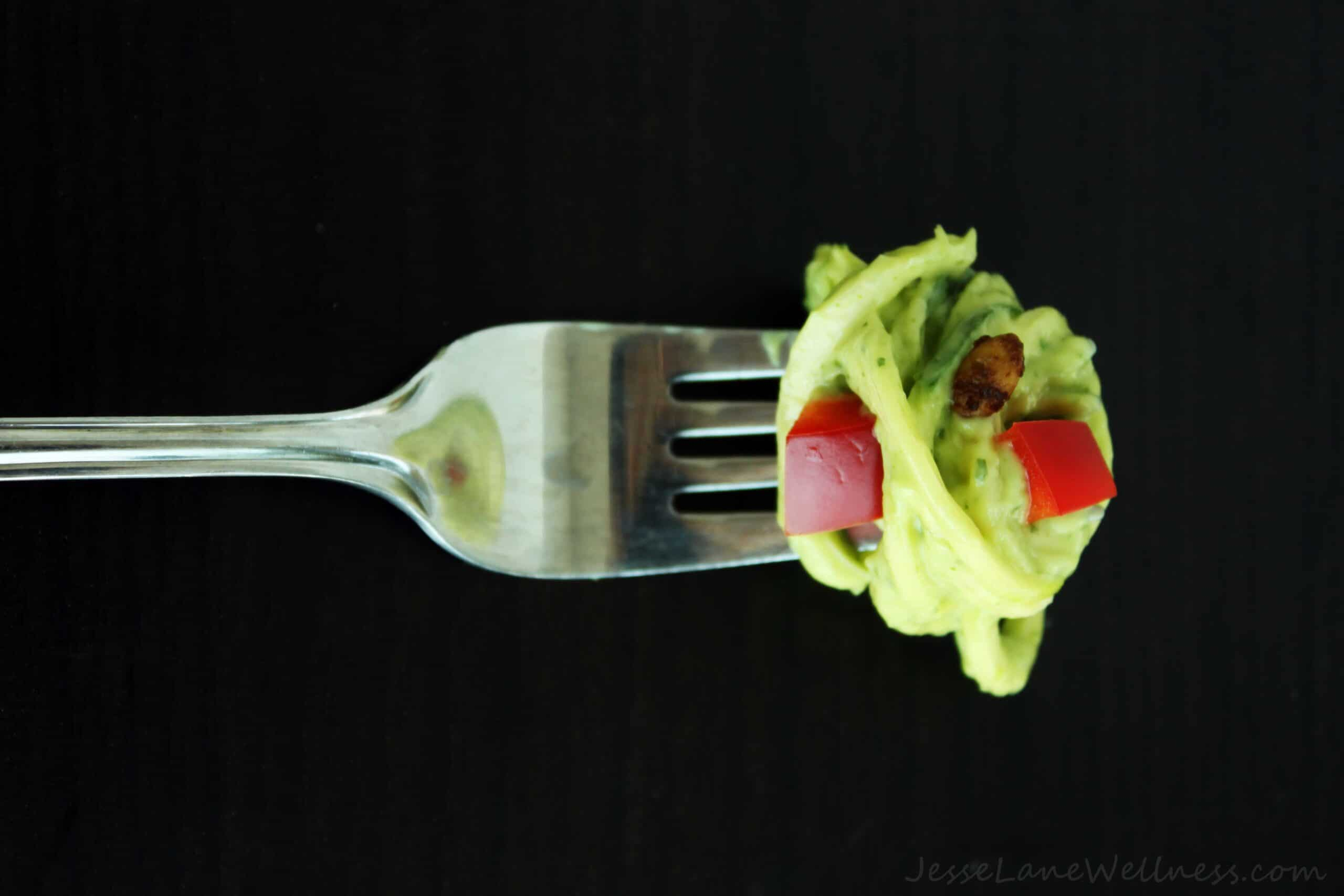 Summer Cilantro Zucchini Pasta by @JesseLWellness #pasta