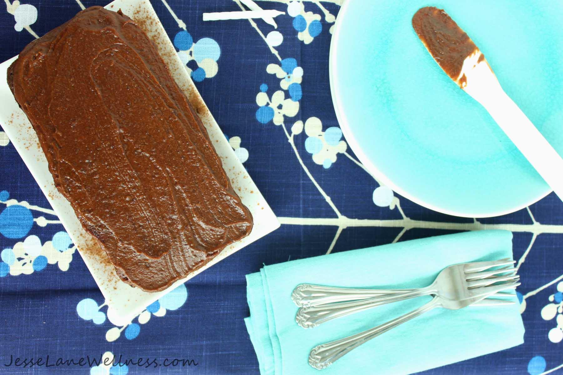 Carob Cake with Fudge Icing by @JesseLWellness #carobcake