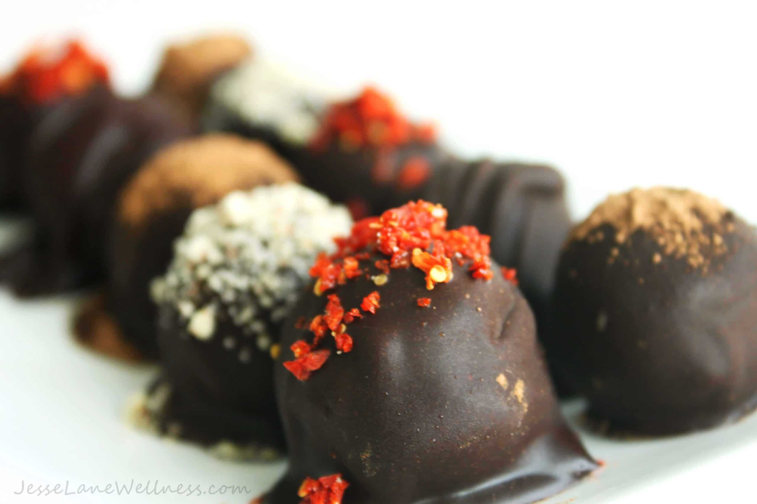 Chocolate Hazelnut Truffles by @JesseLWellness #glutenfree