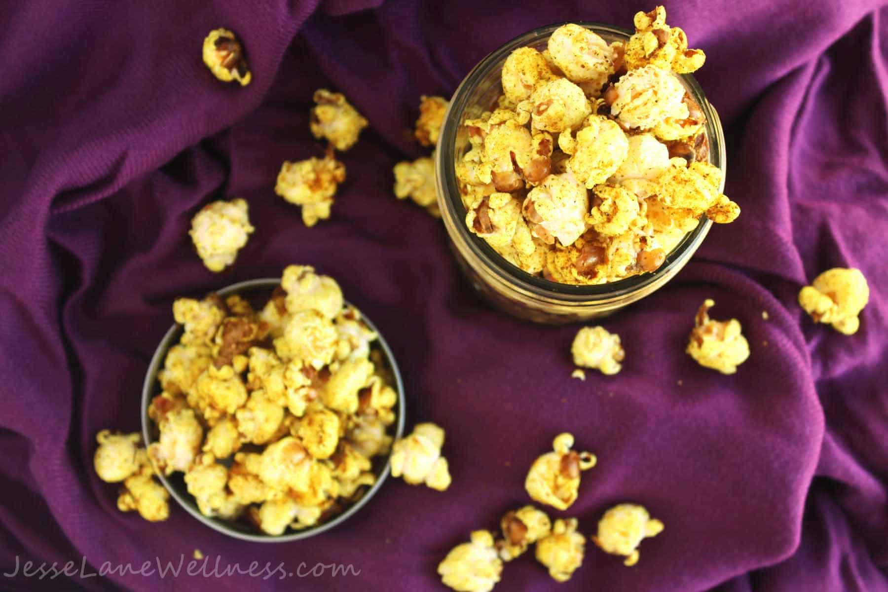 Coconut Curry Popcorn by @JesseLWellness #popcorn