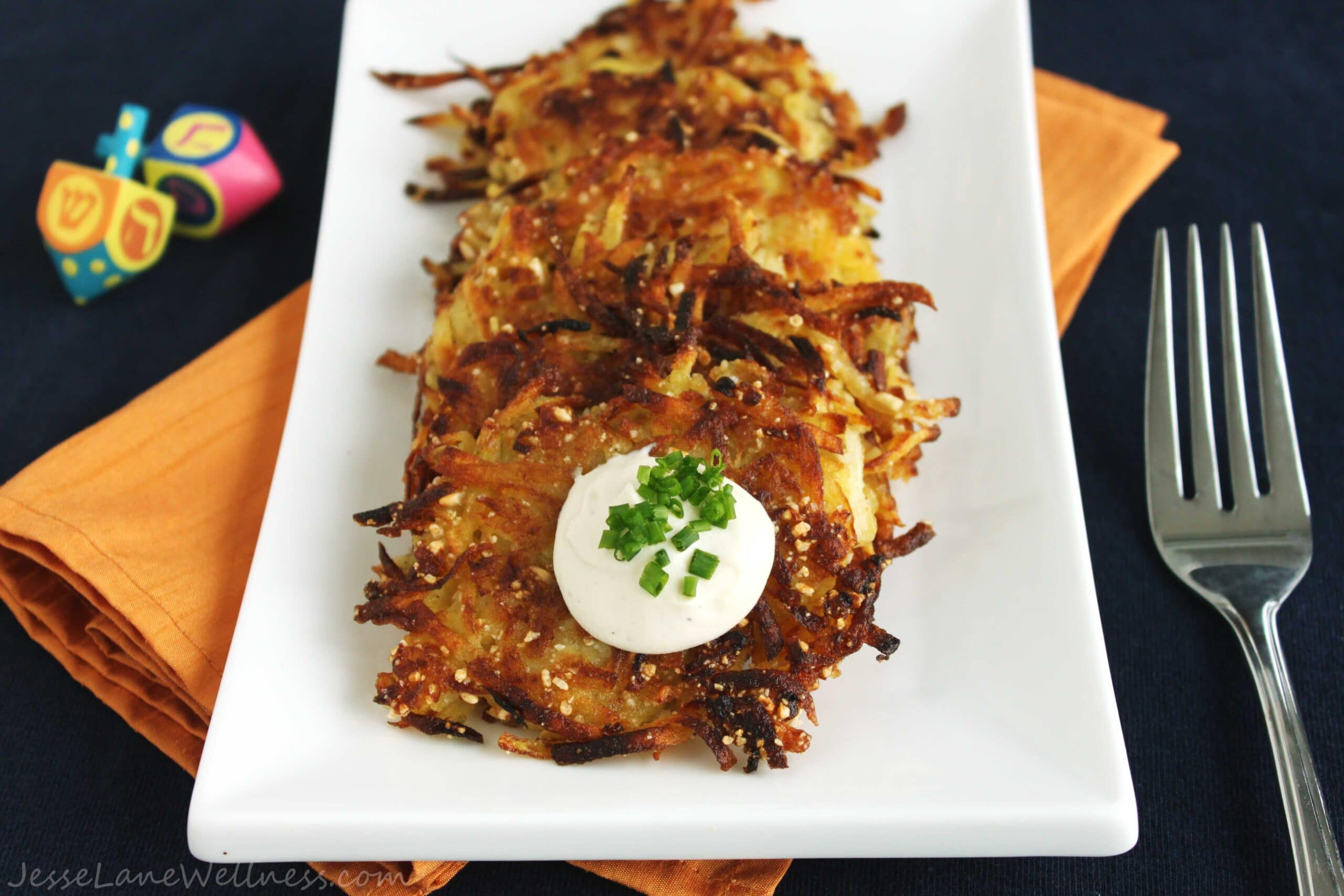 Gluten Free Latkes by @JesseLWellness #hanukkah