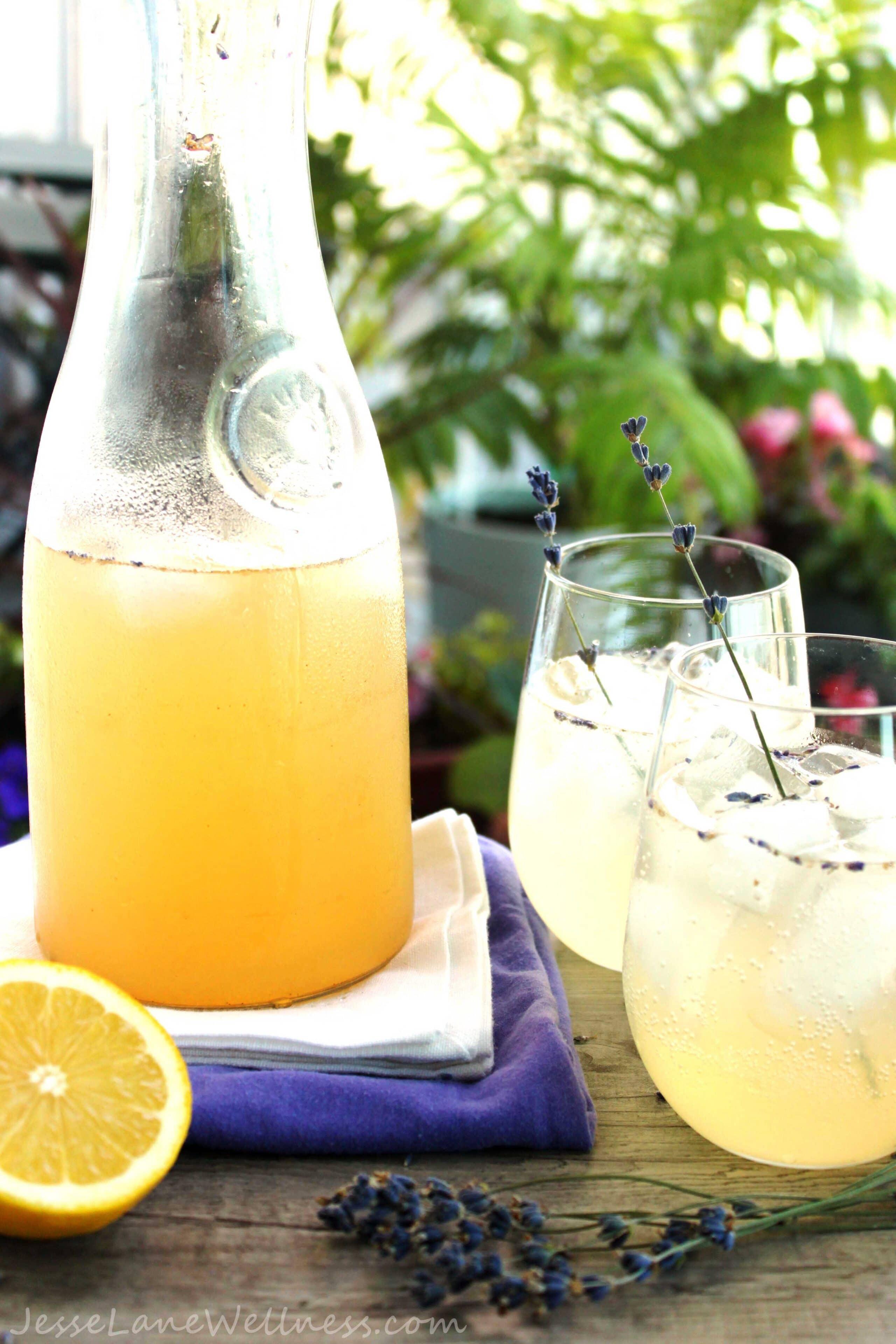 Fizzy Lavender Lemonade (sugar free) by Jesse Lane Wellness