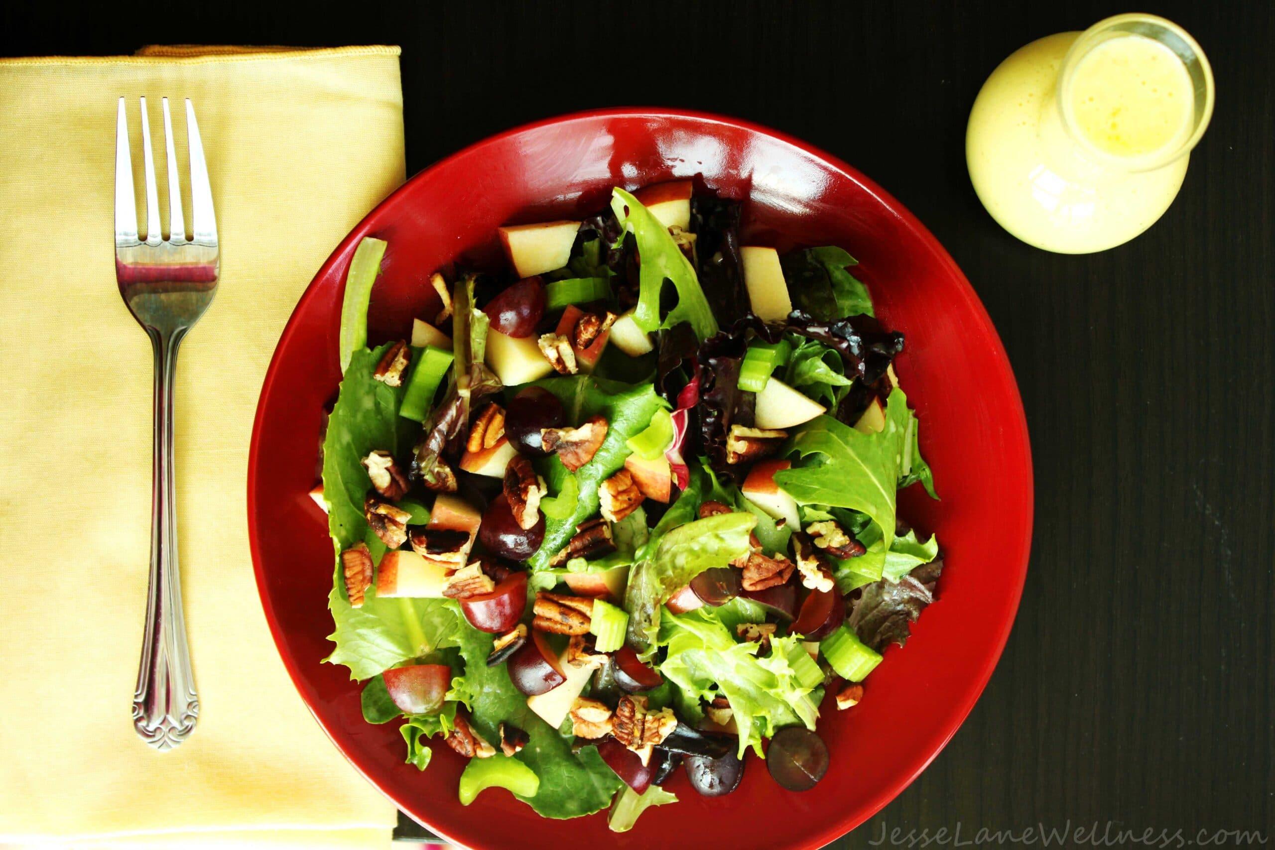 Leafy Waldorf Salad by @JesseLWellness #salad #waldorf