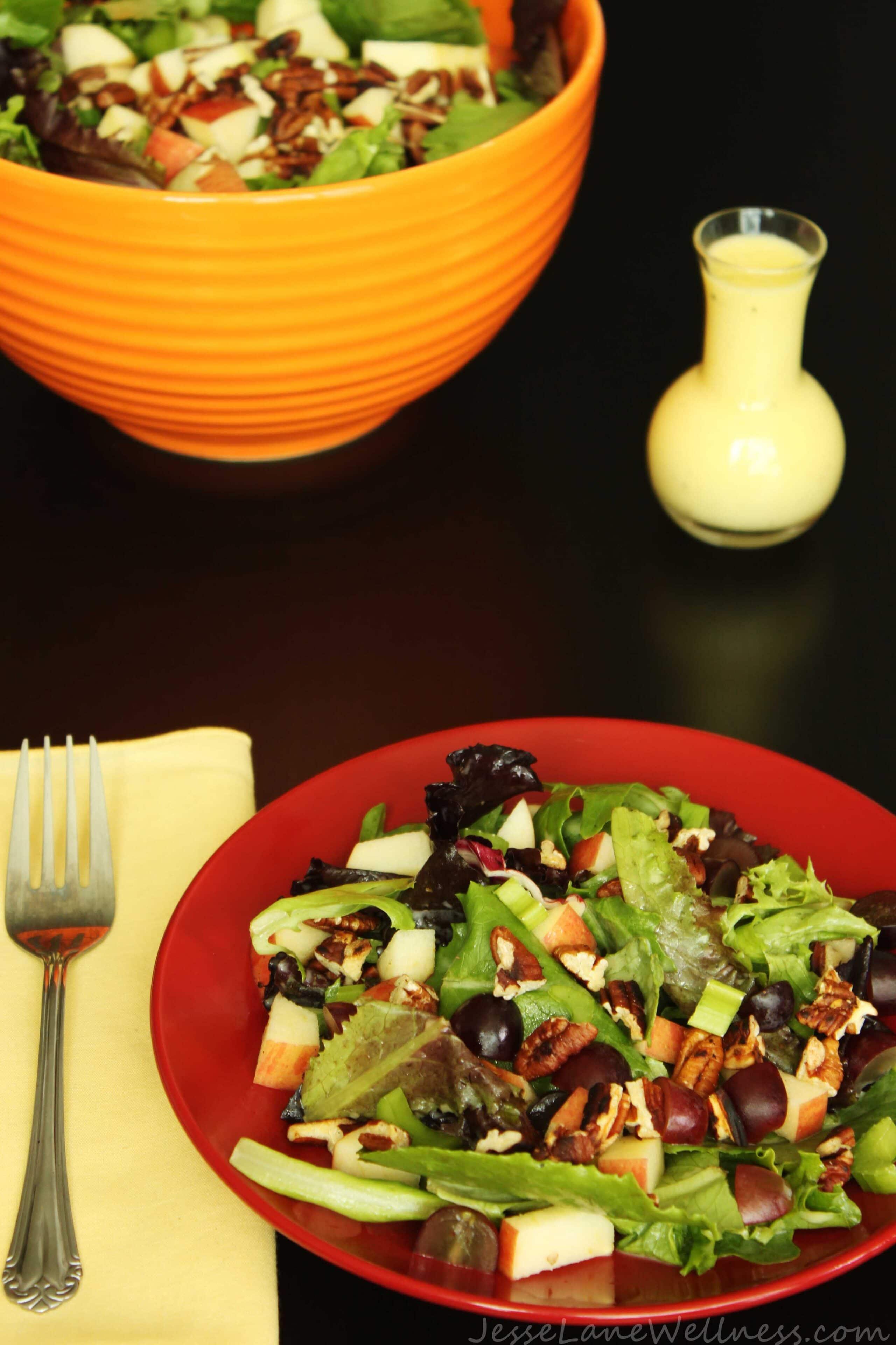 Leafy Waldorf Salad by @JesseLWellness #salad