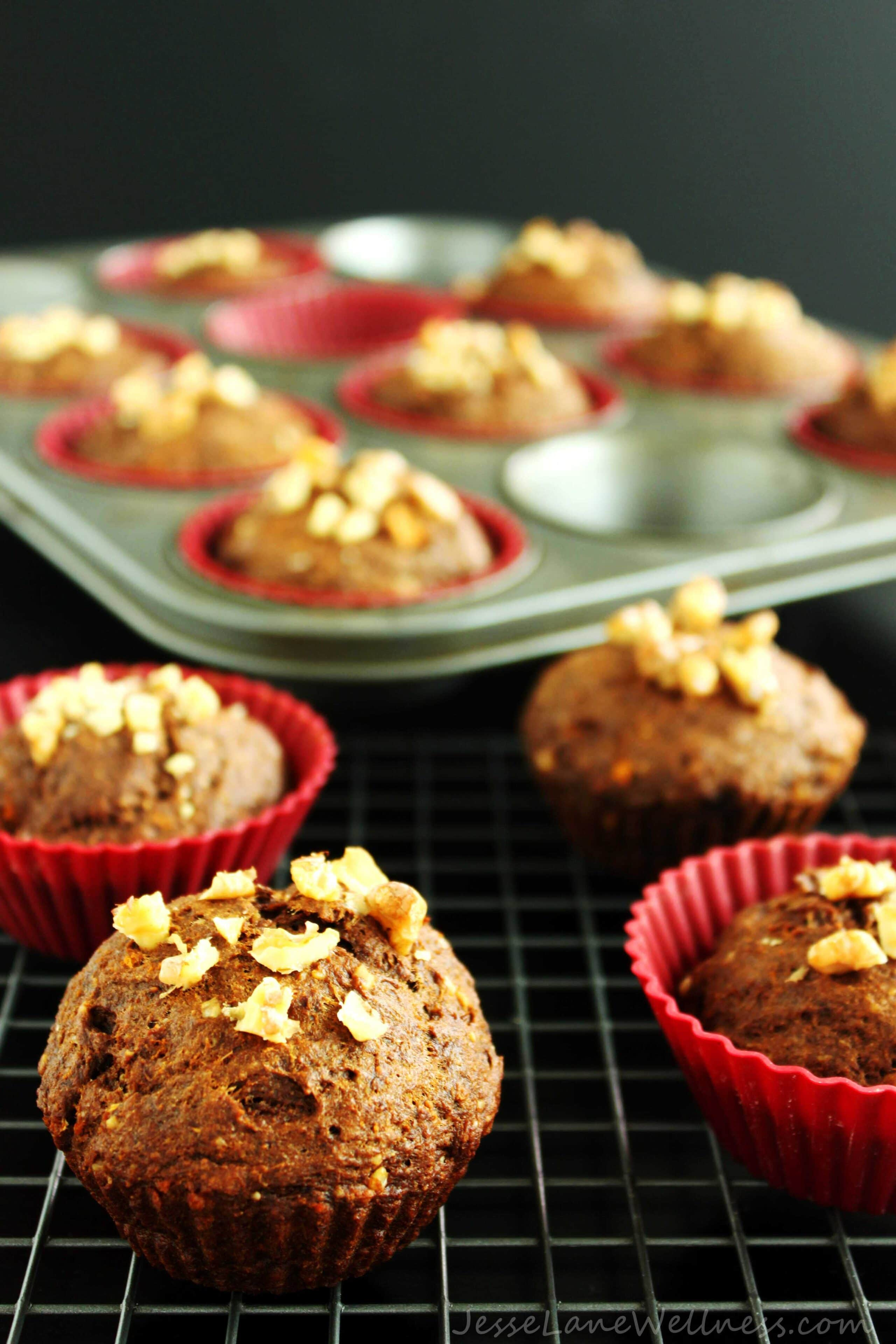Vegan Carrot Molasses Muffins by @JesseLWellness #molasses #carrot