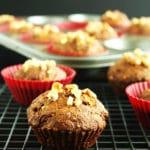 Vegan Carrot Molasses Muffins by @JesseLWellness #molasses #veganmuffins