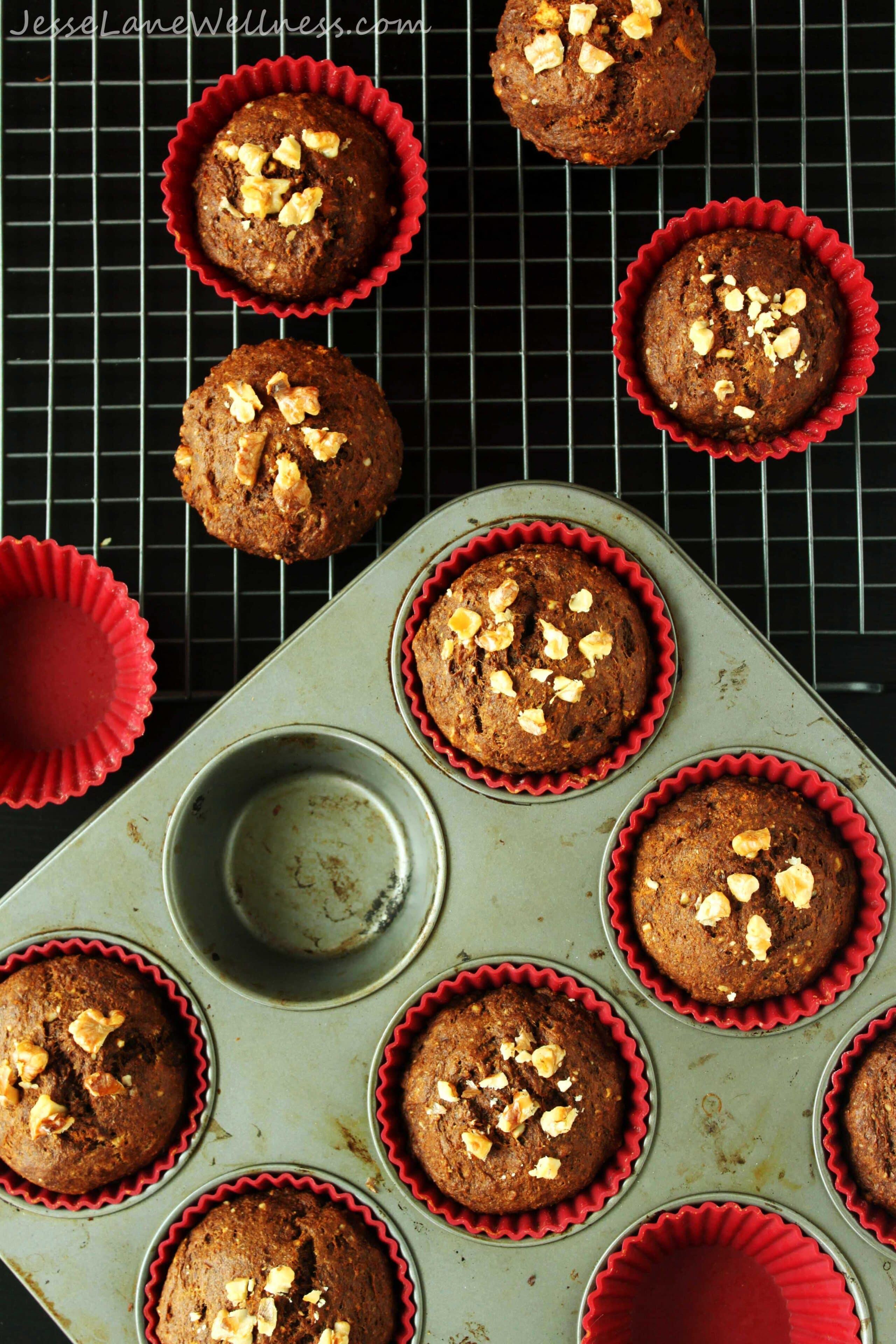 Vegan Carrot Molasses Muffins by @JesseLWellness #muffins #carrot