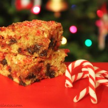 Candy Cane Blondies by @JesseLWellness #christmas