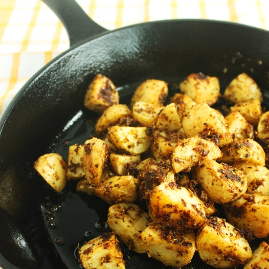 Garlic Scape Roasted Potatoes by Jesse Lane Wellness