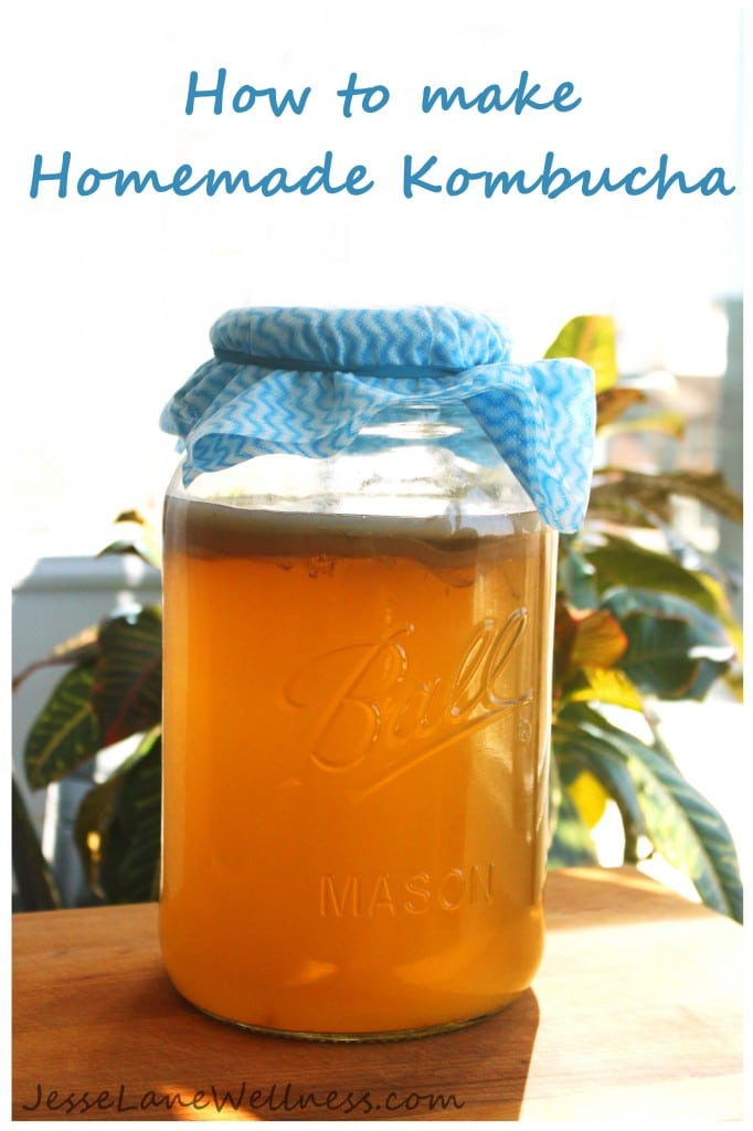 Homemade Kombucha Title by @jesselwellness #kombucha #fermented