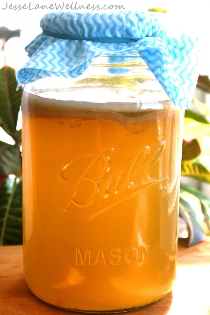 How to make Homemade Kombucha by @jesselwellness #kombucha #fermentation