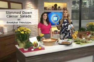 Breakfast Television - Silmmed Down Caesar Salad
