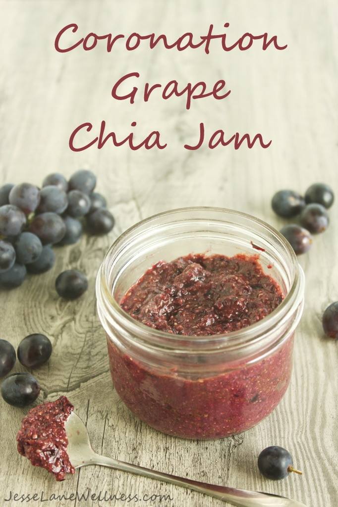Coronation Grape Chia Jam Title by @jesselwellness #raw #vegan