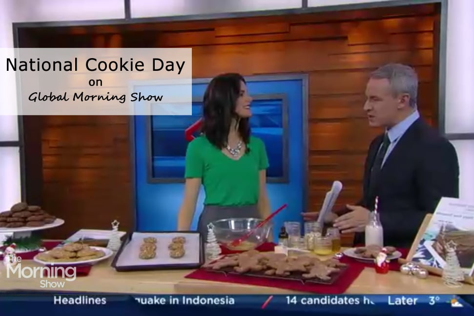 Global Morning Show with @jesselwellness for National Cookie Day in the media