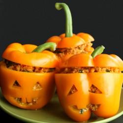 Meatless Stuffed Peppers by Jesse Lane Wellness