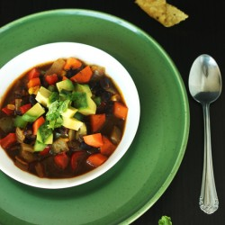 Spicy Black Bean Soup by Jesse Lane Wellness
