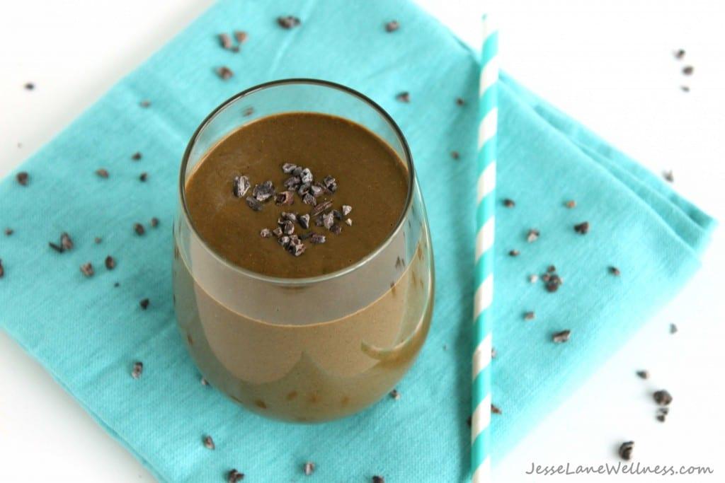 Chocolate Monkey Power Smoothie by @jesselwellness #smoothie #vegan