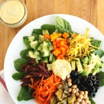 Rainbow Salad with Tahini Dressing by Jesse Lane Wellness