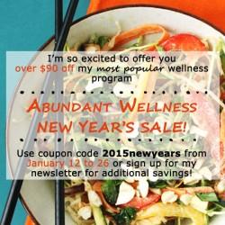 Abundant Wellness New Years's Sale Code
